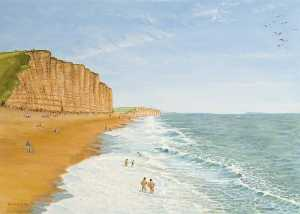 Alfred William Watkin - East Cliff, West Bay, Dorset