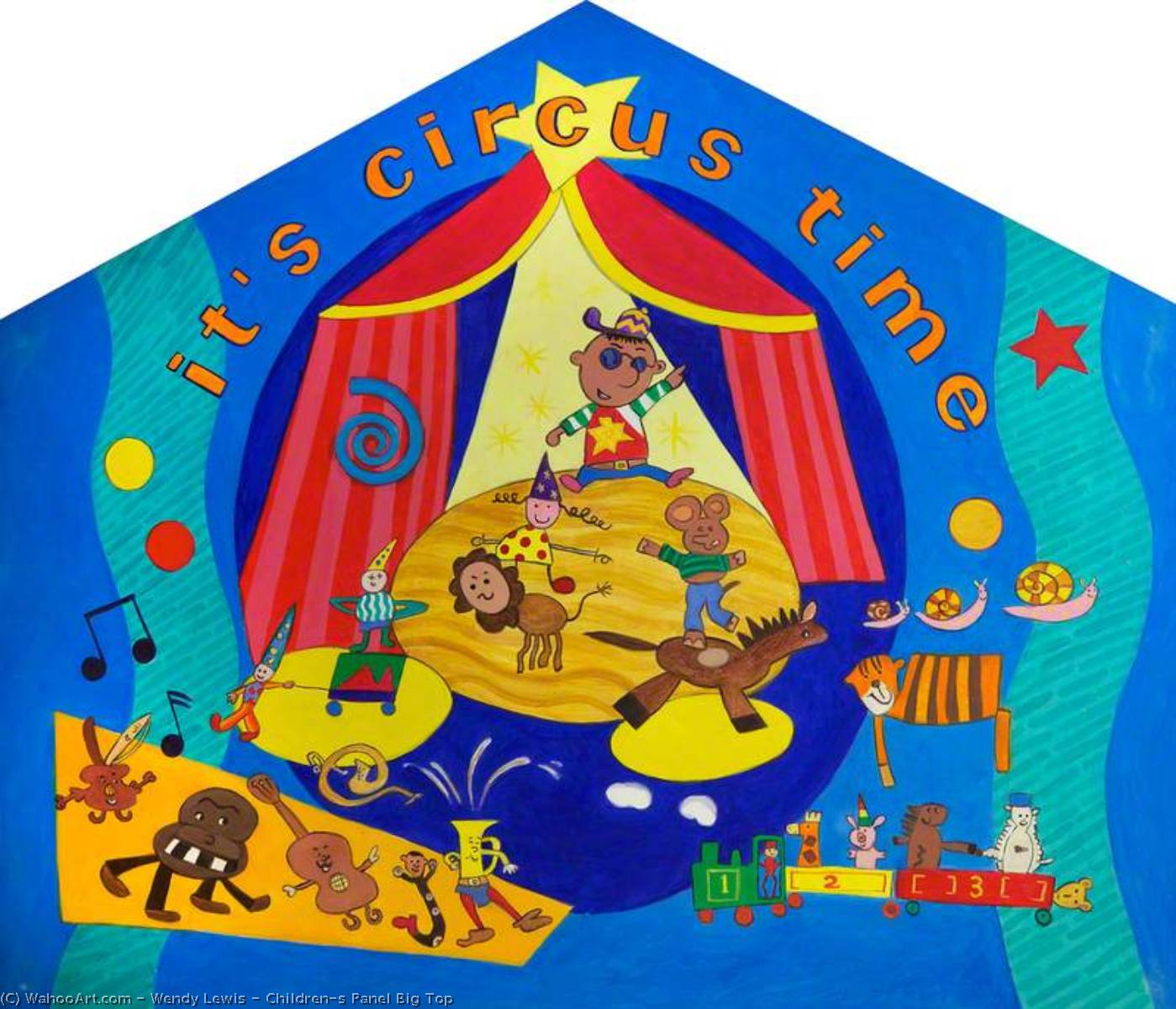 Order Paintings Reproductions | Children`s Panel Big Top, 2002 by Wendy Lewis | WahooArt.com