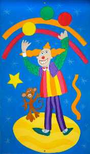 Wendy Lewis - Children-s Panel Juggling Clown