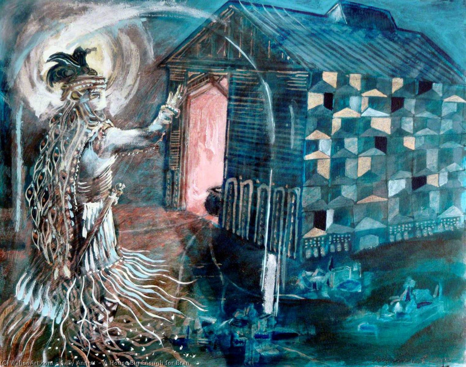 A House Big Enough for Bran, 2000 by Sally Annett | Museum Quality Reproductions | WahooArt.com