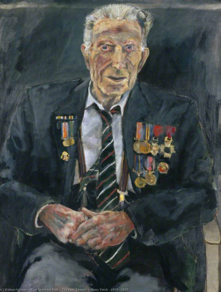 The Last Tommy – Harry Patch (1898–2009), Acrylic On Canvas by Dan Llywelyn Hall