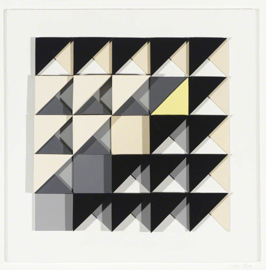 Order Museum Quality Copies | Abstract Construction with Yellow No.1 by Vikki Slowe | WahooArt.com