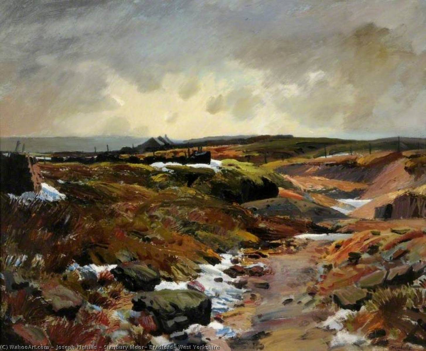 Stanbury Moor, Bradford, West Yorkshire, Oil On Canvas by Joseph Pighills