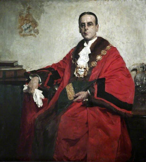 Councillor H. Broderick, JP, Mayor of Southport (1912–1913) by Theobald Butler Gould | Famous Paintings Reproductions | WahooArt.com