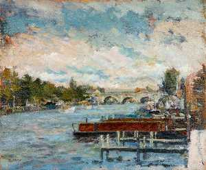 Christopher Glanville - New Moorings at Kingston, Surrey