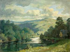 Hanmer Griffith - Chapel Farm and the River Wye