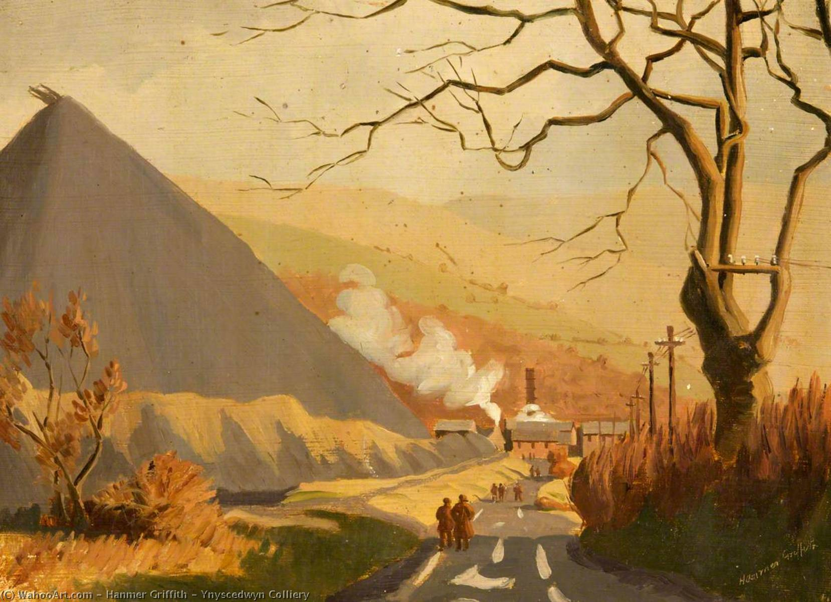 Order Paintings Reproductions | Ynyscedwyn Colliery by Hanmer Griffith | WahooArt.com