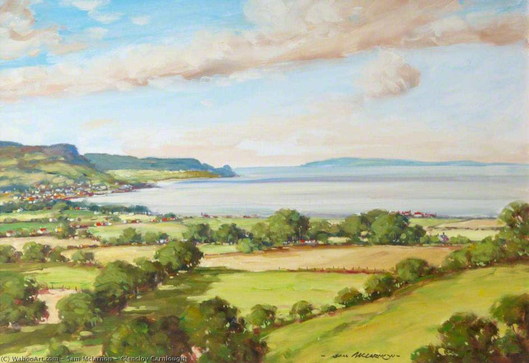 Buy Museum Art Reproductions | Glencloy Carnlough by Sam Mclarnon | WahooArt.com
