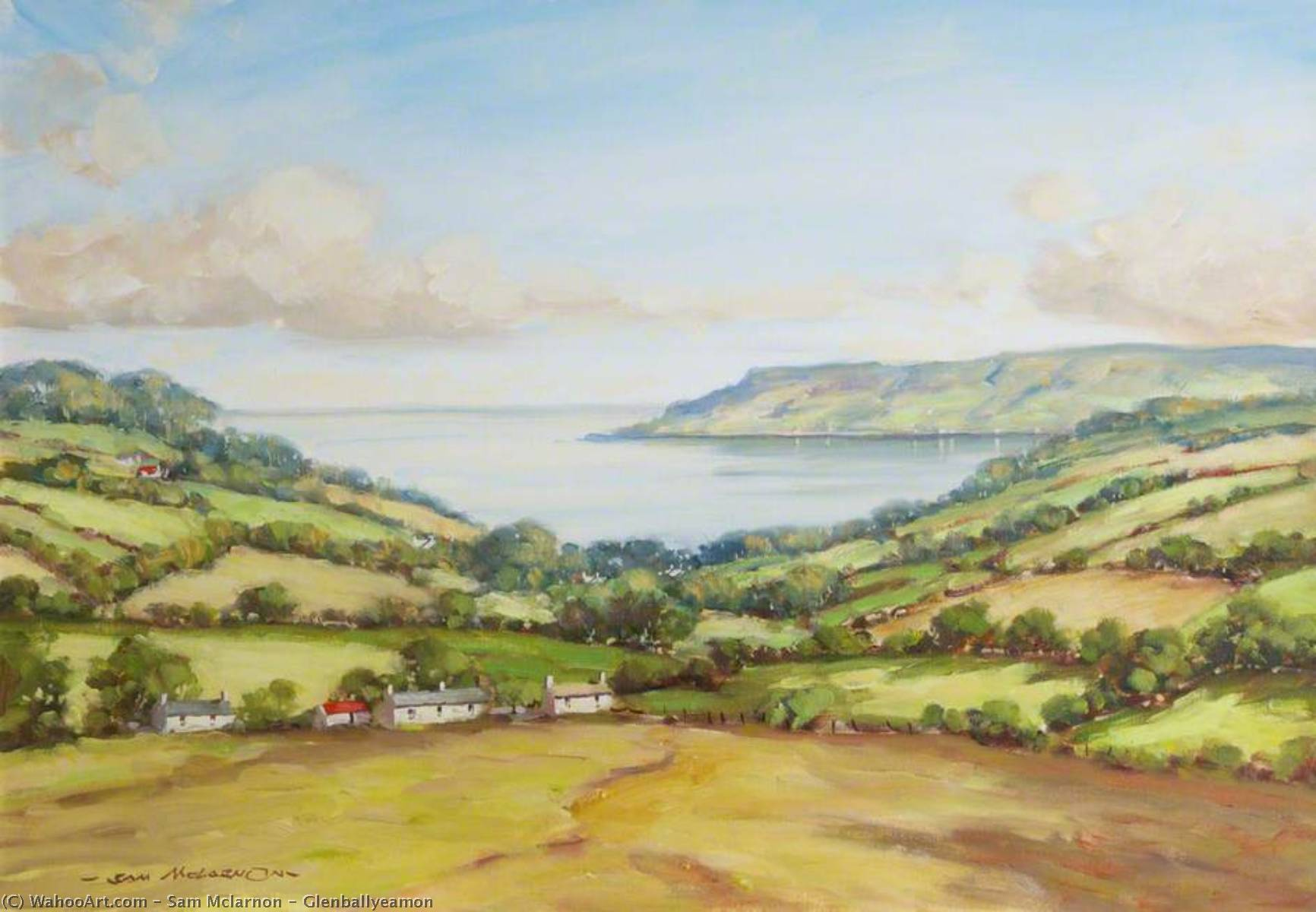 Glenballyeamon by Sam Mclarnon | Paintings Reproductions Sam Mclarnon | WahooArt.com