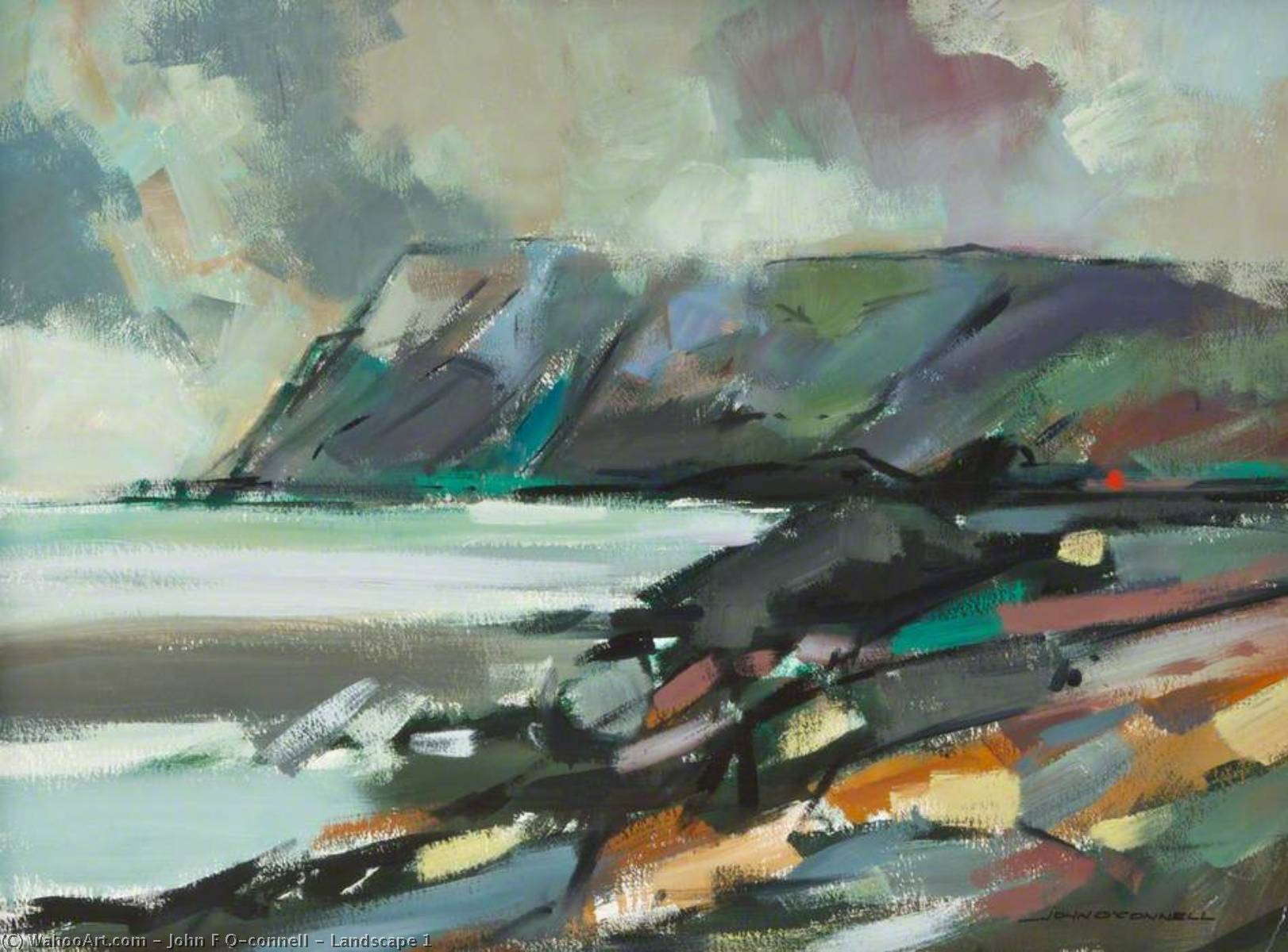 Landscape 1 by John F O'connell | Art Reproductions John F O'connell | WahooArt.com