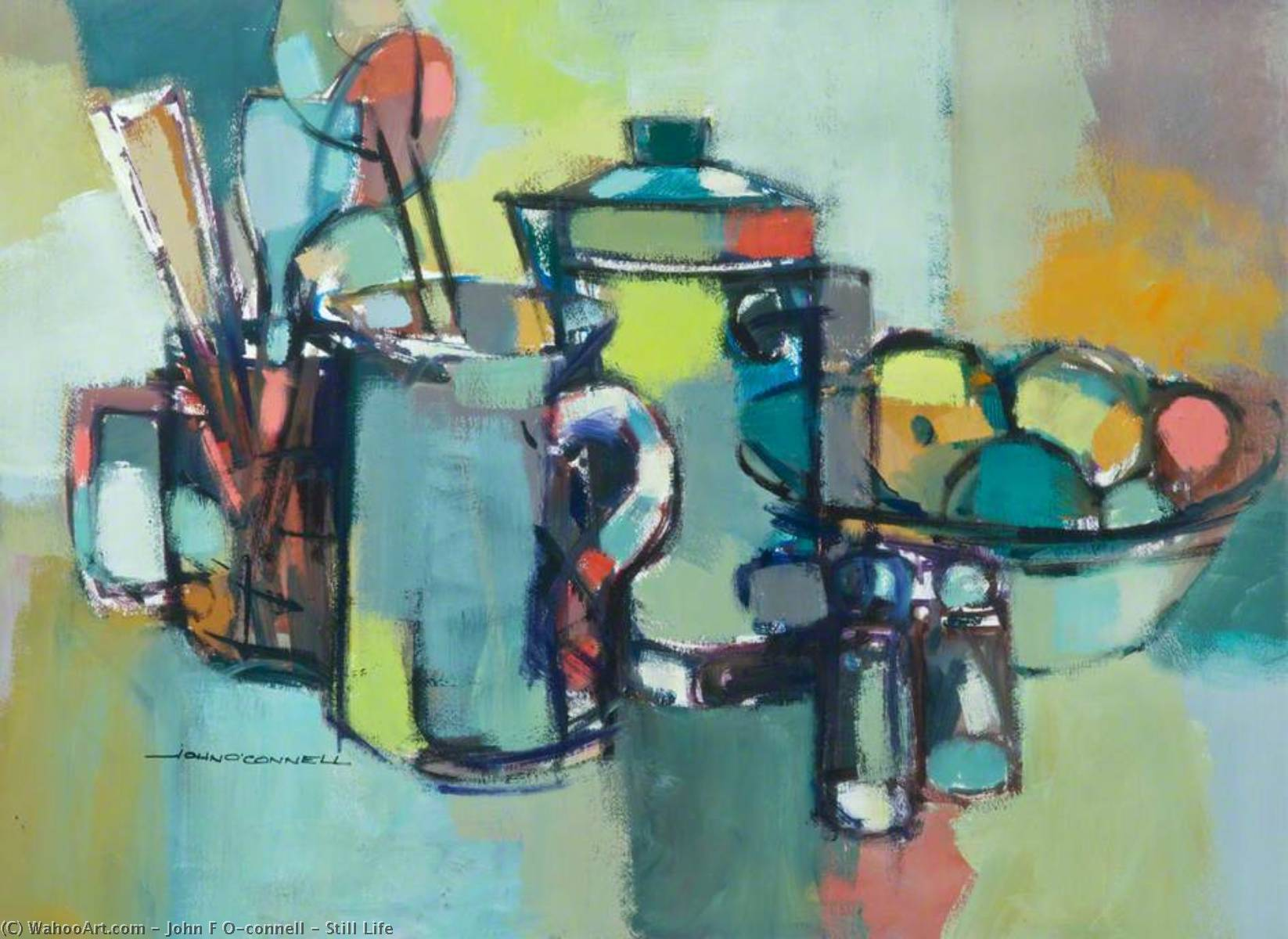 Still Life by John F O'connell | Museum Art Reproductions John F O'connell | WahooArt.com