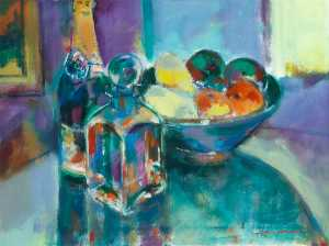 John F O-connell - Still Life with Champagne