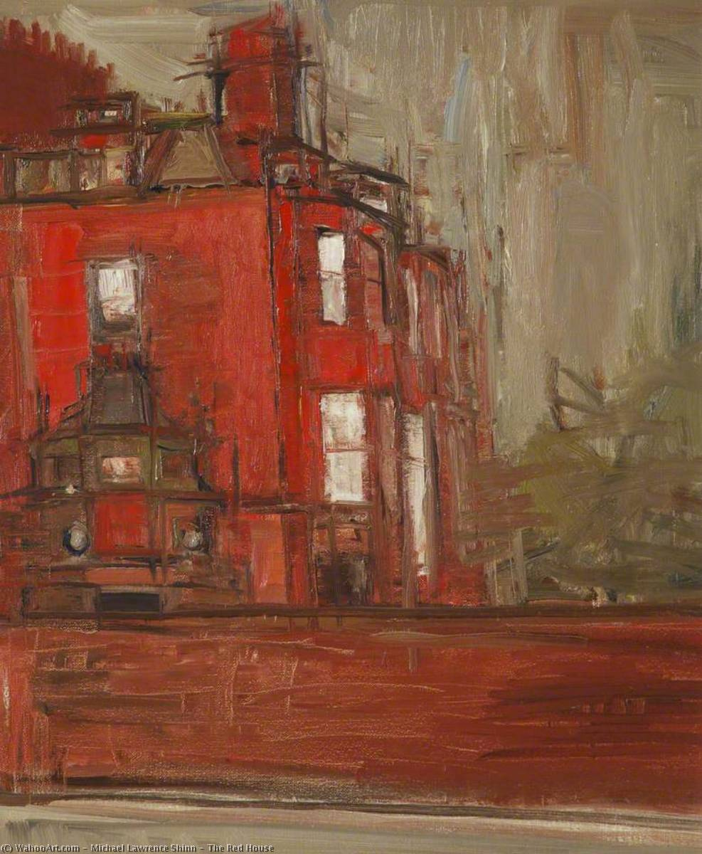 The Red House by Michael Lawrence Shinn | Museum Quality Reproductions | WahooArt.com