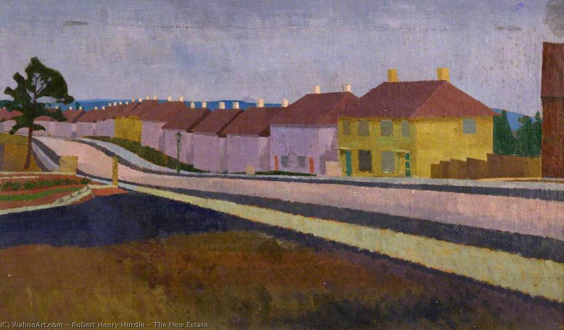 The New Estate, Oil On Canvas by Robert Henry Hurdle