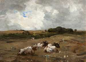Nathaniel Hone Ii - Landscape with Cattle