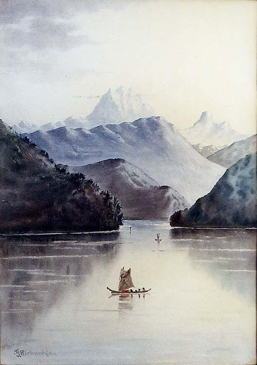 Entrance to the Stikine River, (painting), 1890 by Theodore J. Richardson | Art Reproductions Theodore J. Richardson | WahooArt.com