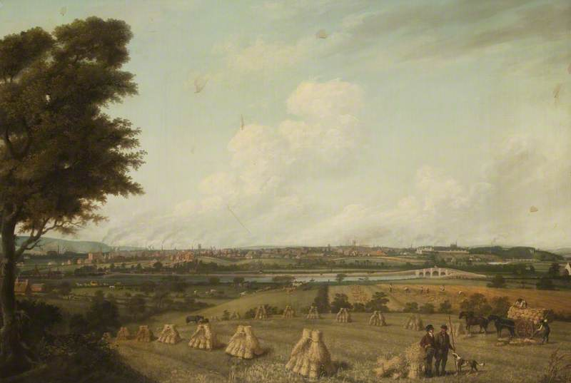 Order Museum Quality Copies | View of Preston from Penwortham Hill, 1821 by John P Jenkinson | WahooArt.com