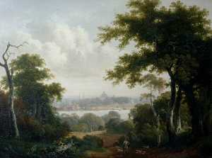 Tobias Young - Southampton from Bitterne, Peartree Green