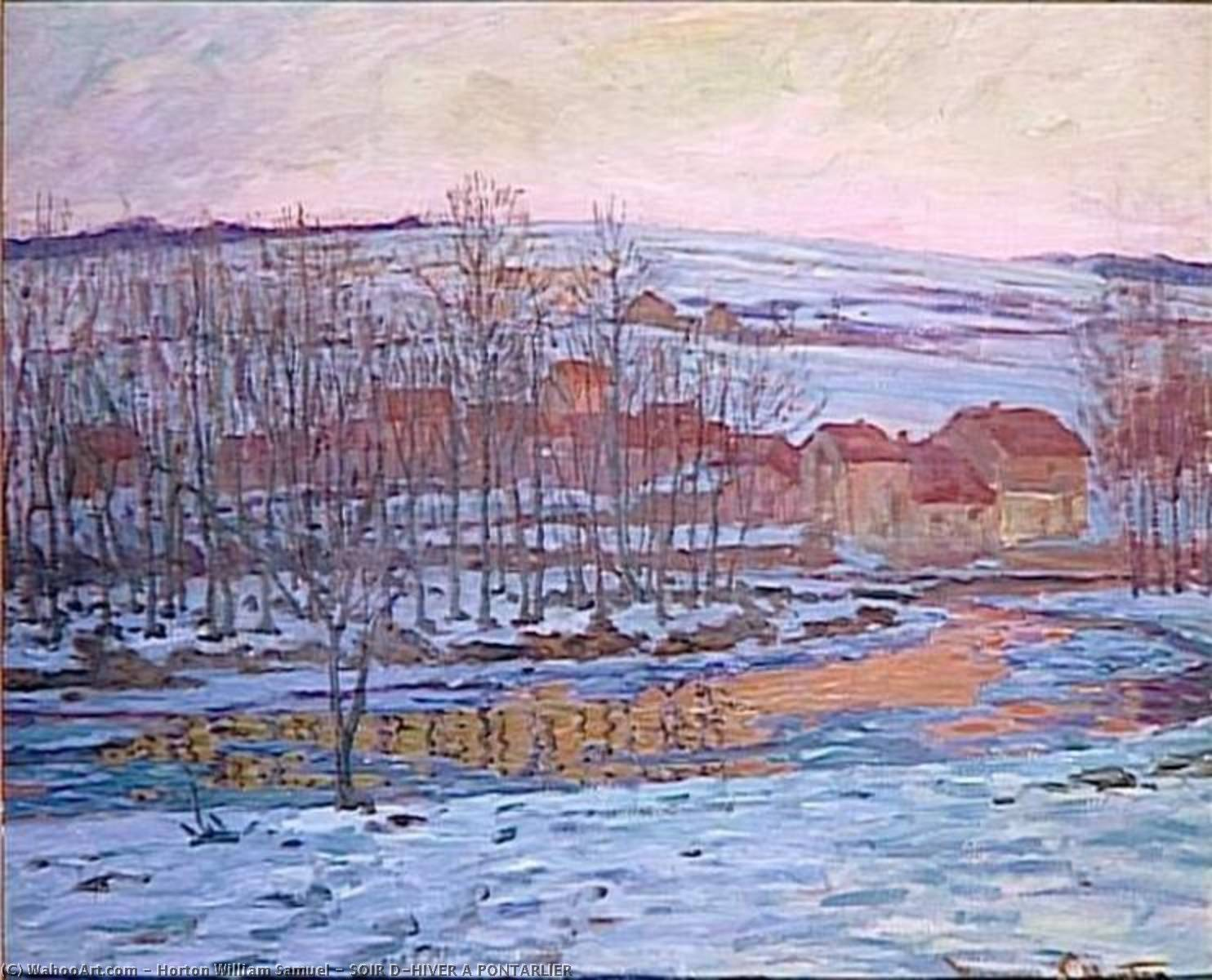 SOIR D'HIVER A PONTARLIER by William Samuel Horton (1865-1936, United States) | WahooArt.com