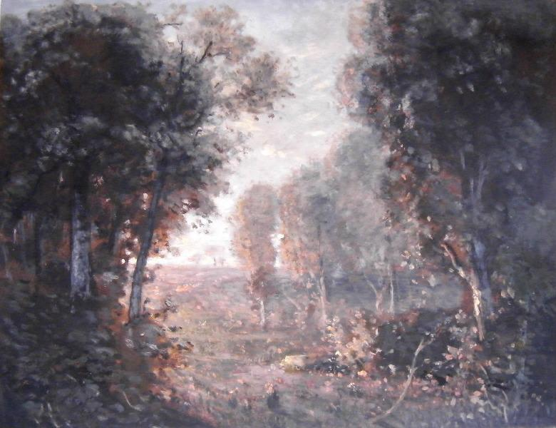 Sous bois n 17 by Alexis Perrassin | Museum Art Reproductions Alexis Perrassin | WahooArt.com