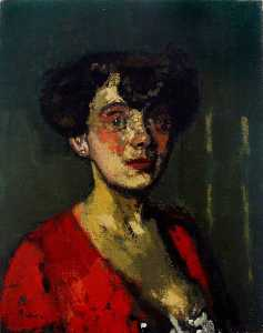 Walter Richard Sickert - Head of a Woman (The Belgian Cocotte)