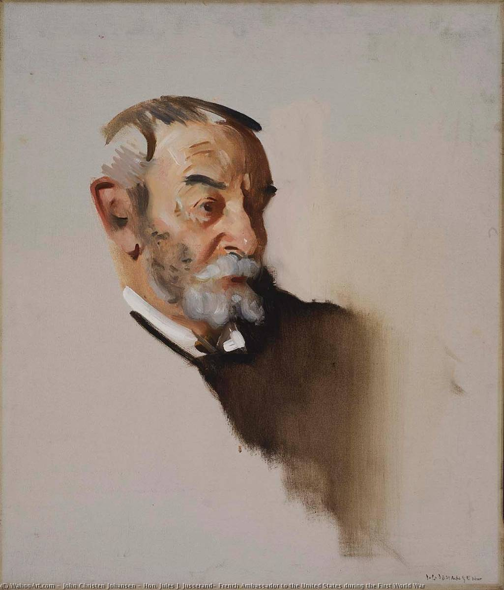 Hon. Jules J. Jusserand, French Ambassador to the United States during the First World War, Oil On Canvas by John Christen Johansen