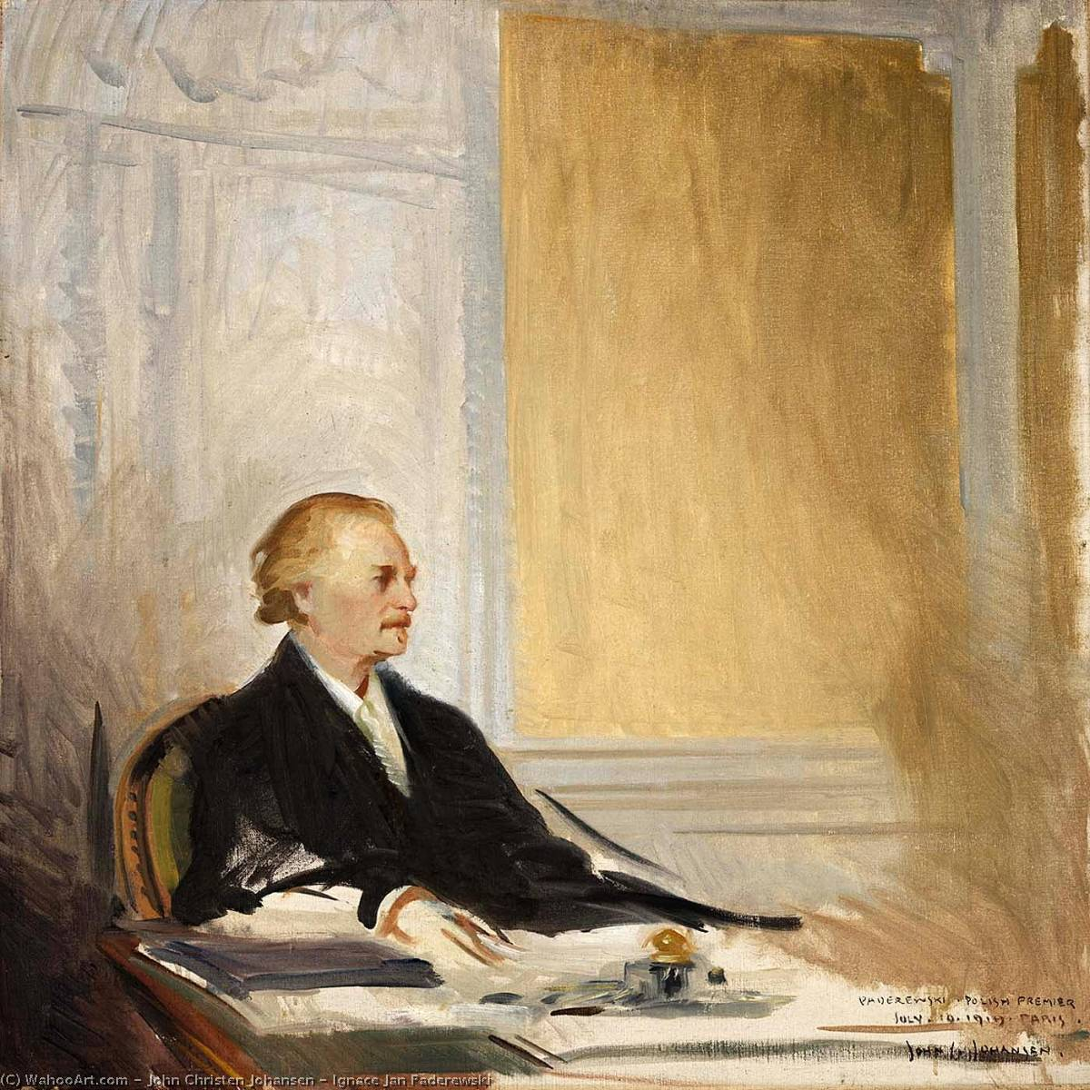 Ignace Jan Paderewski, Oil On Canvas by John Christen Johansen