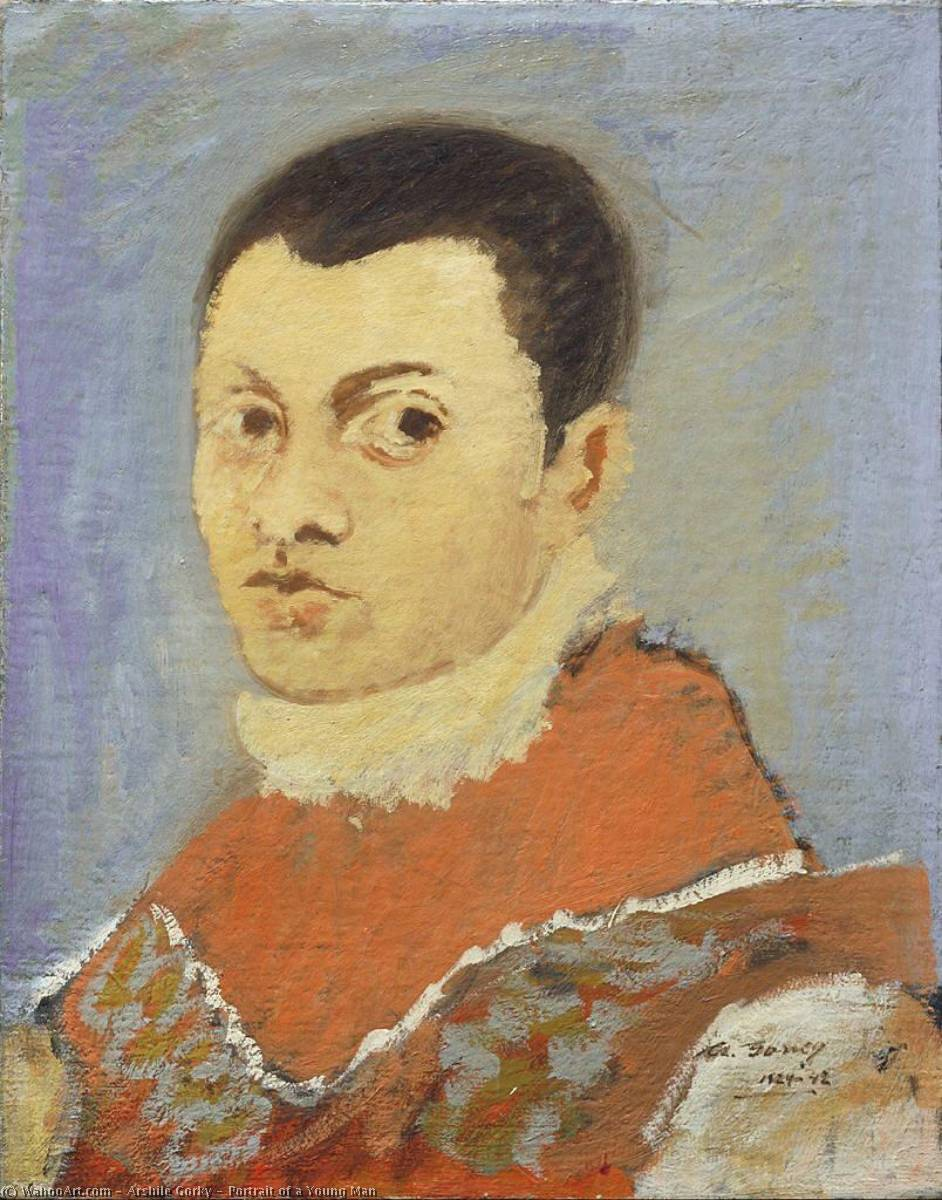 Portrait of a Young Man, Oil On Canvas by Arshile Gorky (1904-1948, Turkey)