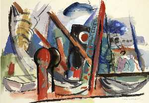 Abraham Rattner - Port of Dieppe