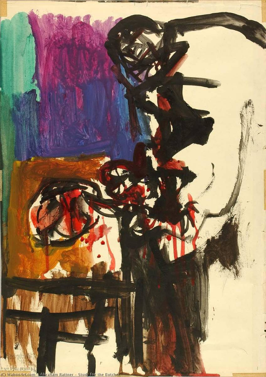 Study for the Butcher, 1966 by Abraham Rattner (1895-1978, United States) | Painting Copy | WahooArt.com