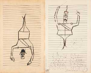 Saul Steinberg - Original drawing, 1954