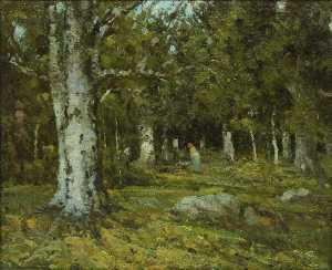 Ion Andreescu - Forest Interior