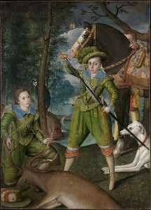 Robert Peake - Henry Frederick (1594 1612), Prince of Wales, with Sir John Harington (1592 1614), in the Hunting Field