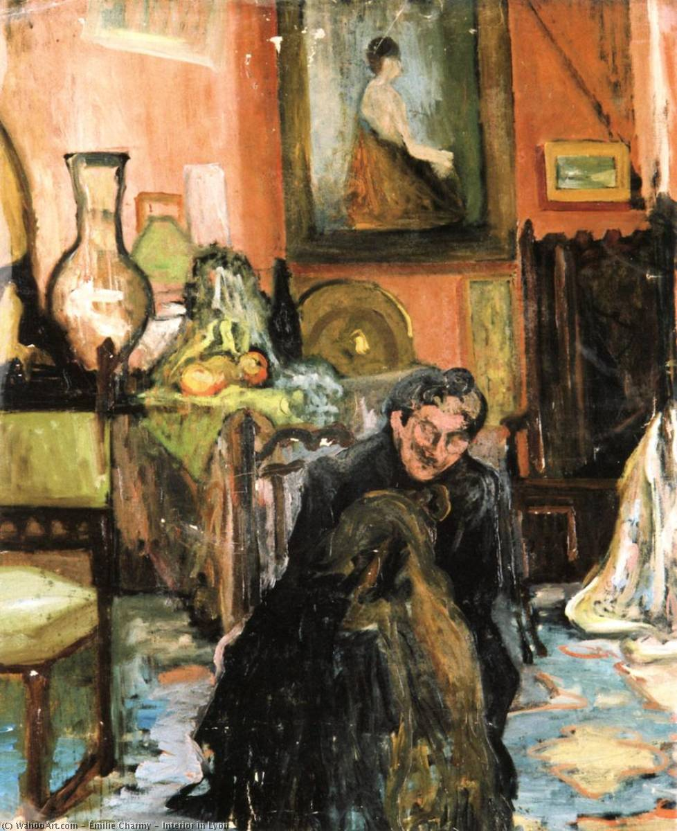 Interior in Lyon, 1900 by Émilie Charmy (1878-1974, France) | Museum Quality Reproductions | WahooArt.com