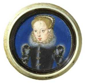 Levina Teerlinc - Portrait Miniature Katherine Grey, Countess of Hertford