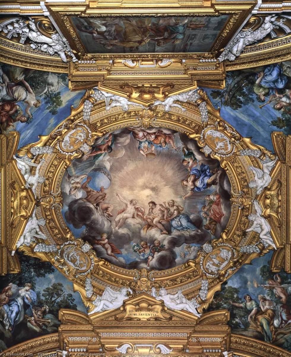 Order Famous Paintings Reproductions : Ceiling painting, 1642 by Pietro Da Cortona (1596-1669, Italy) | WahooArt.com