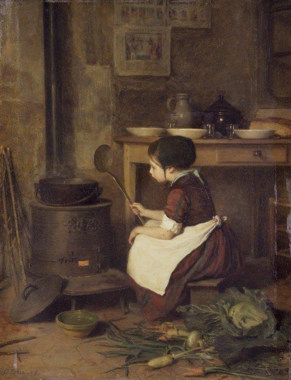 The Little Cook, 1858 by Edouard Frère (1819-1886, France) | Art Reproduction | WahooArt.com