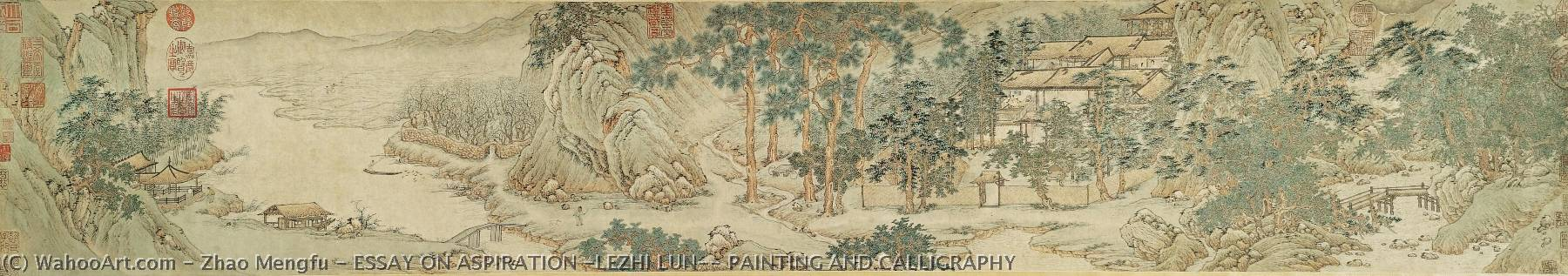 ESSAY ON ASPIRATION (LEZHI LUN), PAINTING AND CALLIGRAPHY by Zhao Mengfu (1254-1322) | Museum Quality Copies Zhao Mengfu | WahooArt.com