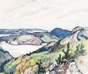 Franklin Carmichael - Untitled La Cloche Region Overlooking Bay of Islands