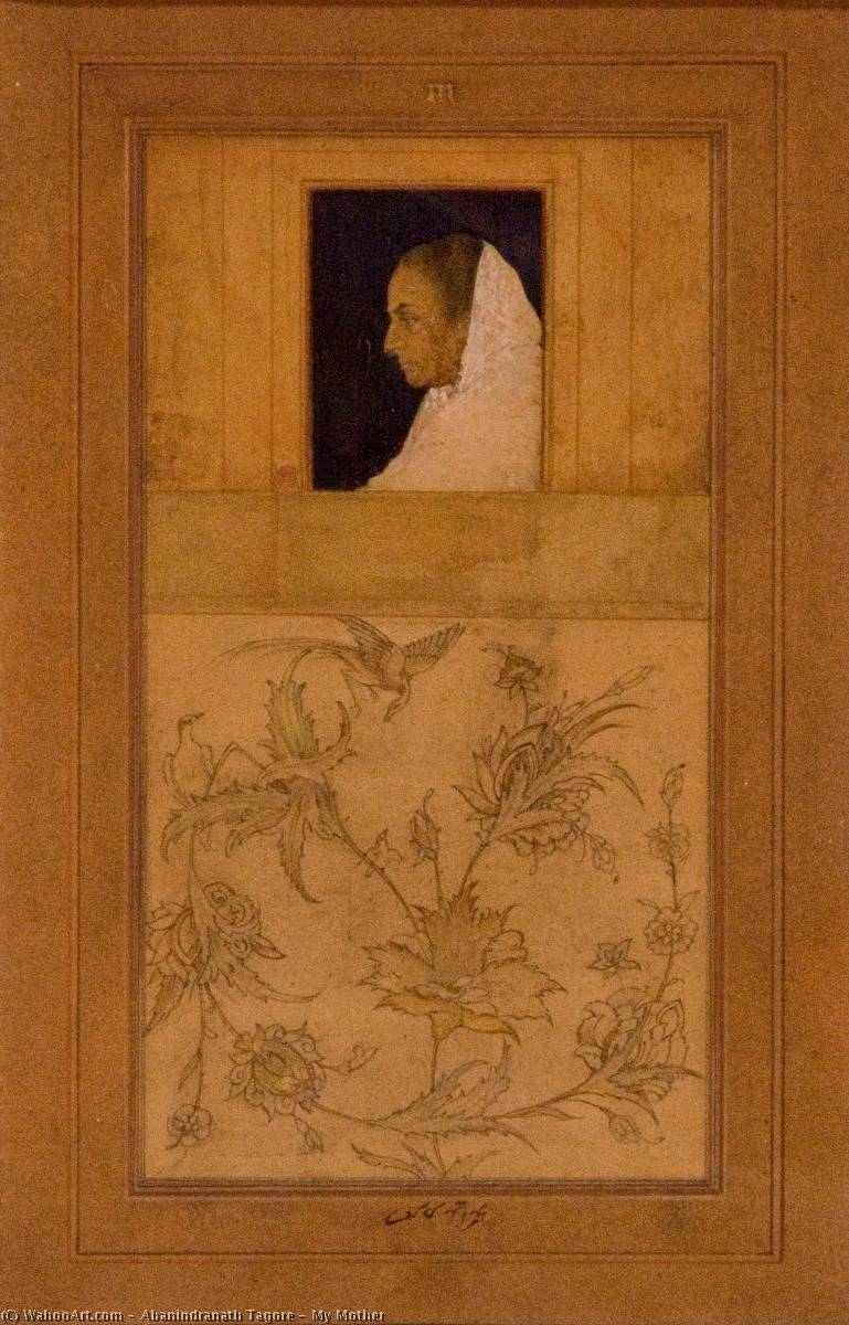 My Mother, 1913 by Abanindranath Tagore (1871-1951, India) | Painting Copy | WahooArt.com