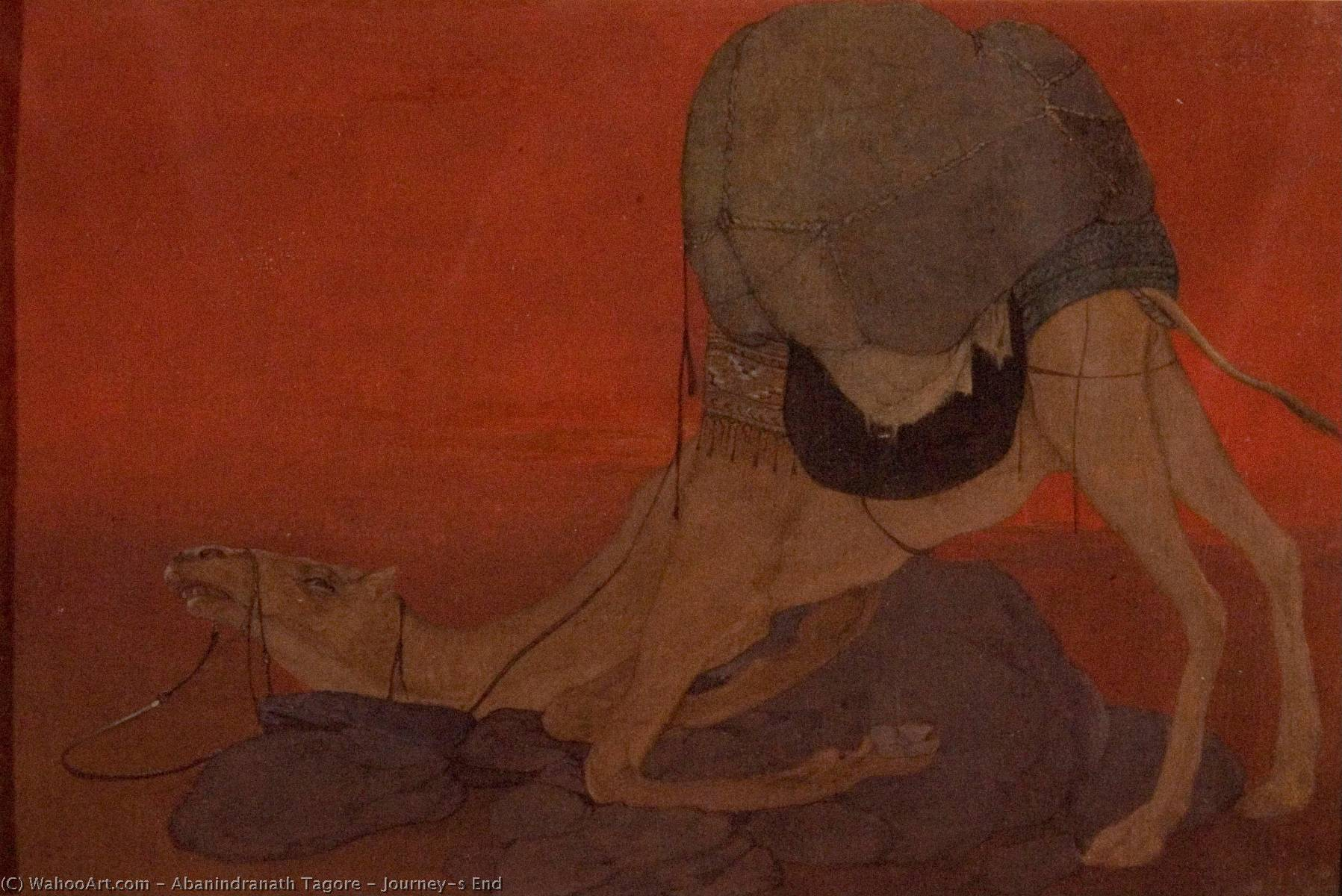 Journey's End, 1913 by Abanindranath Tagore (1871-1951, India)