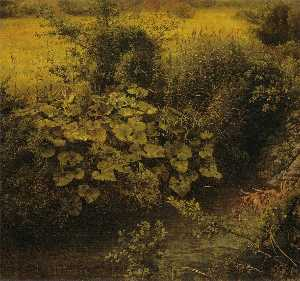 Johann Wilhelm Schirmer - Meadow with Creek (Study) (also known as Wiesenbach (Studie))