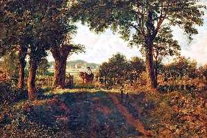John Joseph Cotman - Lane near Carrow, Norwich