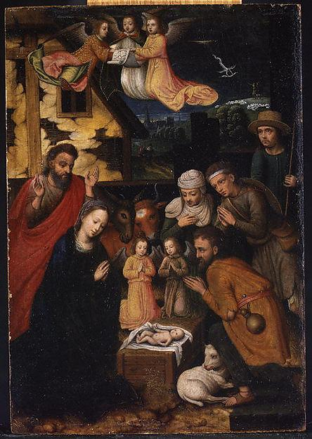 The Adoration of the Shepherds, 1561 by Marcellus Coffermans | Famous Paintings Reproductions | WahooArt.com