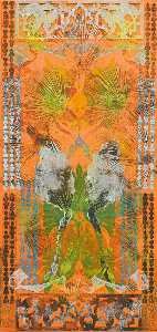 Philip Taaffe - Entrance with Palms