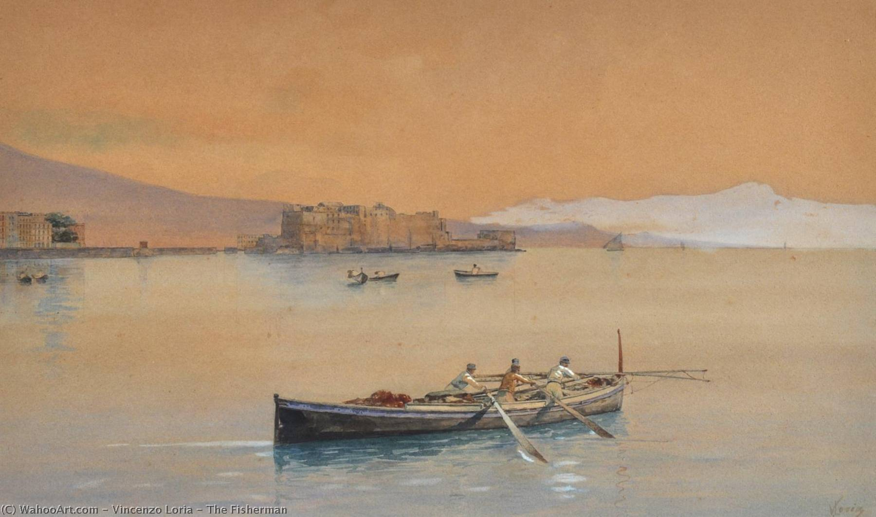 Order Paintings Reproductions | The Fisherman by Vincenzo Loria | WahooArt.com