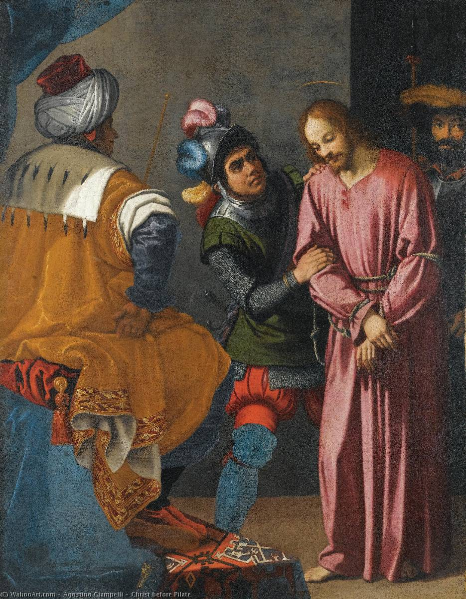 Order Museum Quality Copies | Christ before Pilate by Agostino Ciampelli (1578-1630) | WahooArt.com