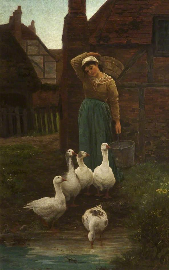Michaelmas Geese by Alice Mary Havers | Museum Quality Copies Alice Mary Havers | WahooArt.com
