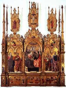 Agnolo Degli Erri - Coronation of the Virgin and Saints