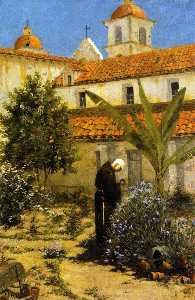 Amédée Joullin - In the Garden, Santa Barbara Mission